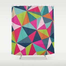 Geometric Triangle Pattern  - Spring Color Palette - Shower Curtain