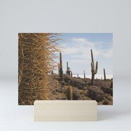 Cactus island Uyuni. Isla Incahuasi, Inkawasi or Inka Wasi.   Mini Art Print