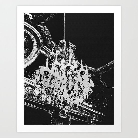 Parisian Chandelier Art Print