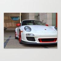 porsche Canvas Prints featuring Porsche by Nick Nieu