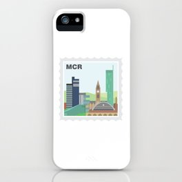 City Stamps - Manchester iPhone Case
