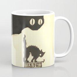 "Théophile Steinlen ""Black cats"" Coffee Mug"