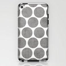 gray polka dots iPhone & iPod Skin