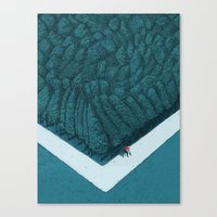 silent Canvas Prints featuring Blue Silent by Andrea Dalla Barba