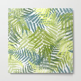 Fern frond seamless pattern Metal Print