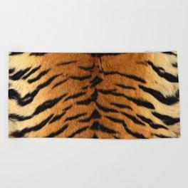 Faux Siberian Tiger Skin Design Beach Towel