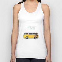 hippie Tank Tops featuring Hippie Van by Good Wave