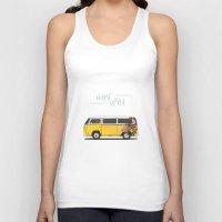 hippie Tank Tops featuring Hippie Van by Catalin Dragu