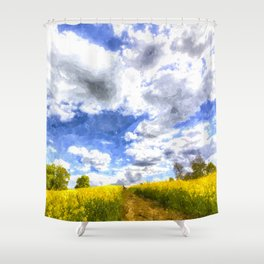 The Farm Path Art Shower Curtain