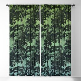 Leaf Shadows on Deck - green2turquoise Blackout Curtain