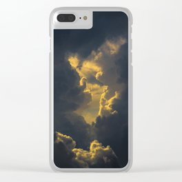 Baroque clouds Clear iPhone Case