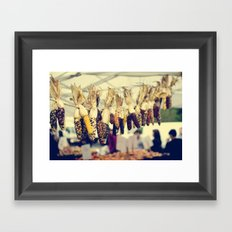Indian Corn at the Farmers Market Framed Art Print
