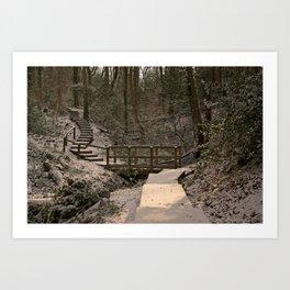 Snowy Ironbridge Gorge Art Print