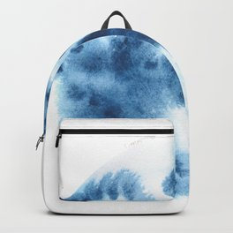 Watercolor Circle Abstract Simple | Blue Blob May 18 Backpack