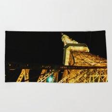 Nightly Tokyo Tower Beach Towel