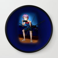 gaming Wall Clocks featuring Gaming Time by Rensou