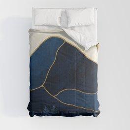 Mt Hood Sapphire Blue Wilderness Comforters