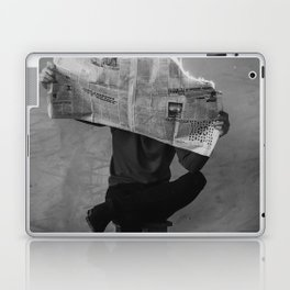 News on Fire (Baclk and White) Laptop & iPad Skin