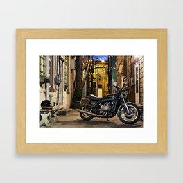 GL1000 cafe motorcycle Framed Art Print