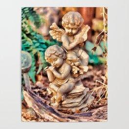Garden Cherubs Poster