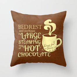 Cheered by Chocolate Albus Dumbledore Throw Pillow