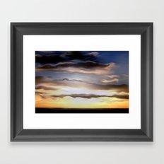Abendsonne über dem Land. Framed Art Print