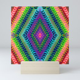Psychedelic Chevron Mini Art Print