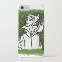maleficent iPhone & iPod Cases featuring Maleficent by carotoki art and love