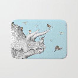 Triceratops and Birdies Bath Mat