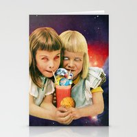 cocktail Stationery Cards featuring Exoplanet Cocktail by Eugenia Loli