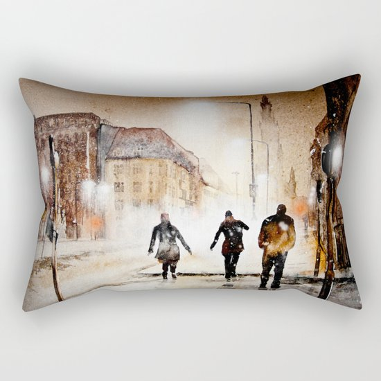 Britain's cold night in warm colors. Rectangular Pillow