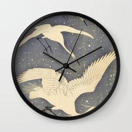 Ohara Koson - Top Quality Art - Snows Egret Wall Clock