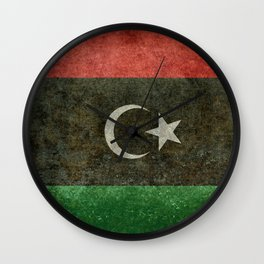 Official flag of the state of Libya, Vintage version to scale  Wall Clock