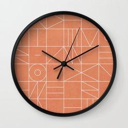 My Favorite Geometric Patterns No.5 - Coral Wall Clock