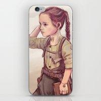 megan lara iPhone & iPod Skins featuring Lara by Sheharzad