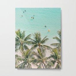 Ocean Swimming I, Waikiki Hawaii Metal Print