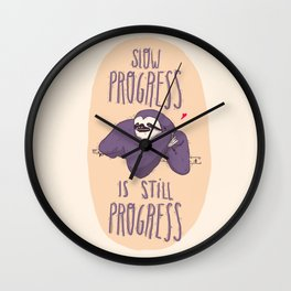sloth progress Wall Clock
