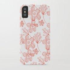 orange flowers Slim Case iPhone X