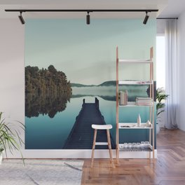 Gloomy dock Wall Mural