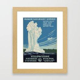 Vintage poster - Yellowstone Framed Art Print