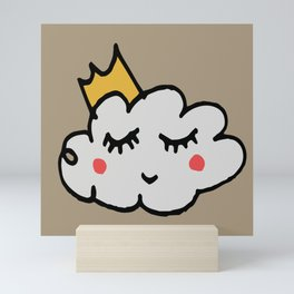 April showers king cloud Sand #nursery Mini Art Print