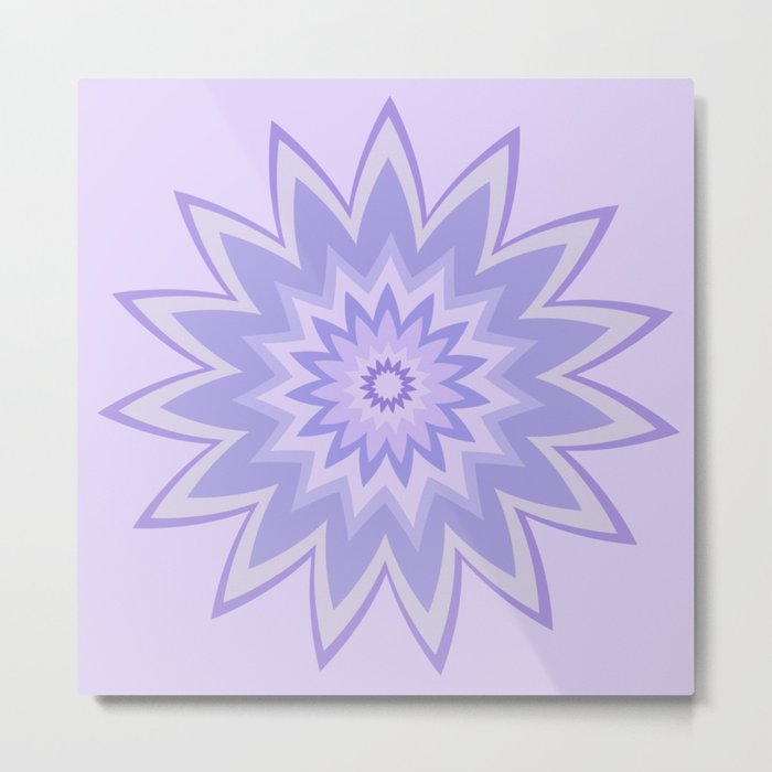 Lavender Star Flower Metal Print