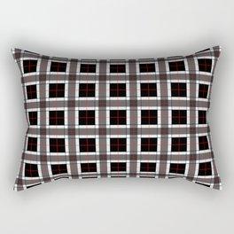 Black and White Plaid Pattern Rectangular Pillow