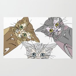 Triple Kitties - Three's Company Rug