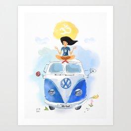 California yoga  Art Print