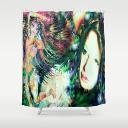 NUDE BELLY DANCER WITH LADY KASHMIR ART PRINT PHOTOGRAPHY PAINTING  Shower Curtain