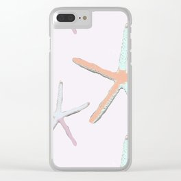 Colorful Starfish Clear iPhone Case