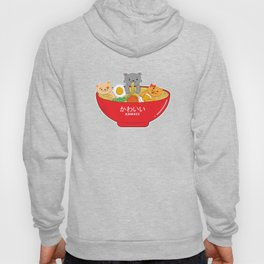 Adorable Cute Japanese Ramen Cats Kawaii Vintage Style Hoody