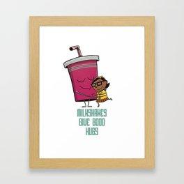 Milkshake Hugs Framed Art Print