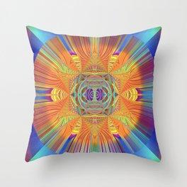 Healing Visionary Spark Mandala Throw Pillow